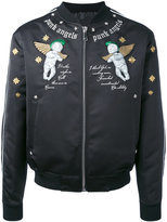 John Richmond punk angels embroidered bomber jacket - men - Acrylic/Polyester/Wool - S
