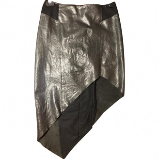 Helmut Lang Black Leather Skirts