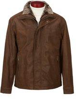 Roundtree & Yorke Suede Jacket with Faux Fur Bib