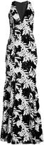 Jay Godfrey Drai Sequin Palm-Print Gown