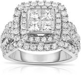 FINE JEWELRY LIMITED QUANTITIES! Womens 2 1/2 CT. T.W. Princess White Diamond 14K Gold Engagement Ring