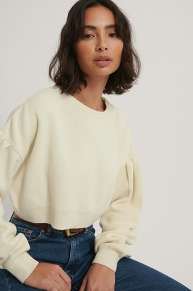 NA-KD Puff Sleeve Cropped Knitted Sweater