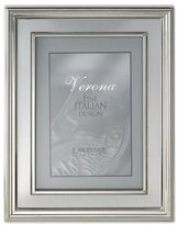 Lawrence Frames 4 by 6-Inch Silver Plated Metal Picture Frame, Brushed Silver Inner Panel