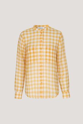 Samsoe & Samsoe Artisans Gold Polyester Nally Check Pattern Shirt - M - Gold