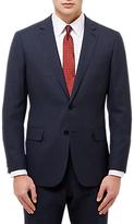 Jaeger Melange Plainweave Regular Fit Suit Jacket, Navy