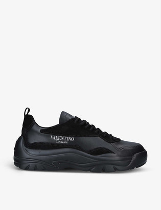 Valentino Bansi leather mid-top trainers