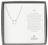 Dogeared Beaded Chain With Karma Circle Boxed Reminder Necklace
