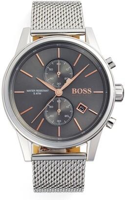HUGO BOSS Jet Chronograph Mesh Strap Watch, 41mm
