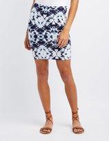 Charlotte Russe Tie Dye Bodycon Mini Skirt