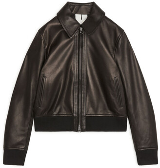 Arket Cropped Leather Jacket
