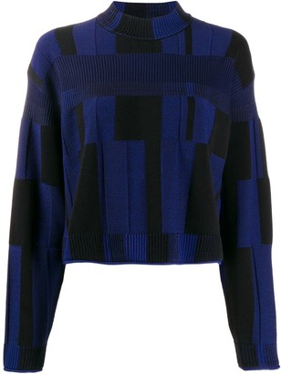 Proenza Schouler patchwork plaid jumper