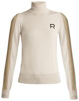 Rochas Roll-neck pleated-sleeve wool sweater