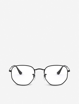 Ray-Ban RX6448 metal and glass hexagonal-frame glasses
