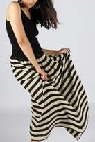 Anupamaa Stripe-Black Gajari Skirt