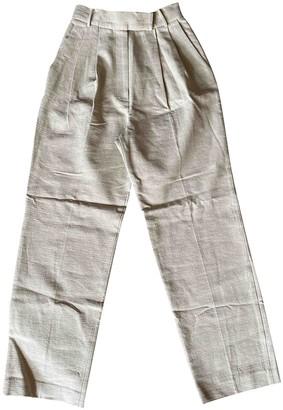 The Frankie Shop Beige Linen Trousers