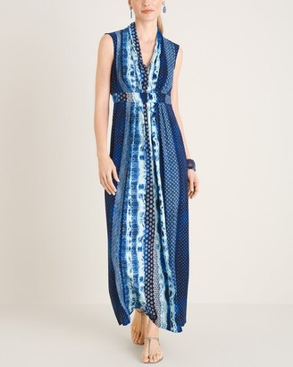 Chico's Geometric Tie-Dye Print Maxi Dress