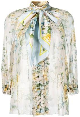 Zimmermann Lucky Tuxedo bow-embellished blouse