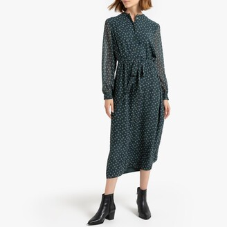 La Redoute Collections Midi Shirt Dress in Floral Print