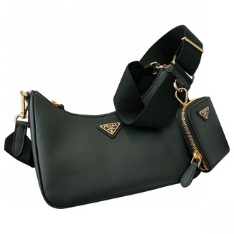 Prada Re-edition Green Leather Handbags