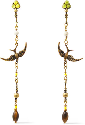 Zimmermann Burnished Gold-tone, Bead And Stone Earrings