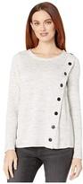Nic+Zoe Sign Me Up Sweater (Moondust Heather) Women's Clothing