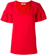Jucca ruffled shortsleeved T-shirt - women - Cotton - L