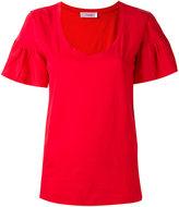 Jucca ruffled shortsleeved T-shirt - women - Cotton - S