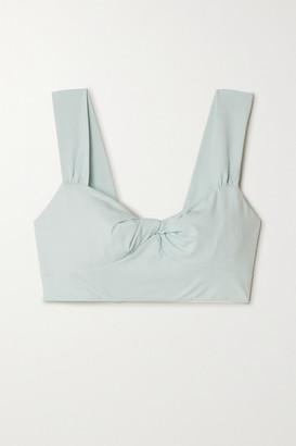 Marysia Swim Lehi Twist-front Stretch-crepe Bikini Top - Sky blue