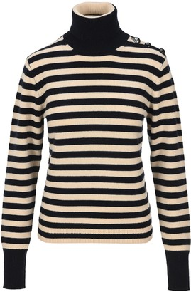 Chloé Striped Turtleneck Knit Jumper