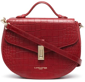 Lancaster Crocodile Effect Crossbody Bag