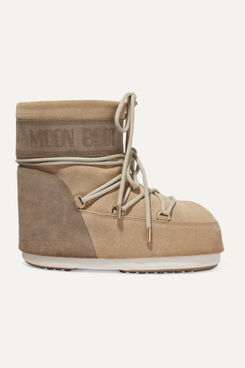 Moon Boot Coated-suede Snow Boots - Sand