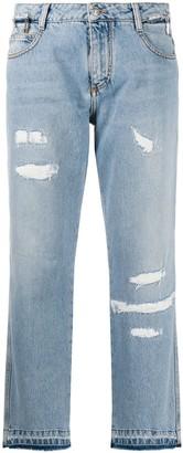 Ermanno Scervino Cropped Straight Leg Jeans