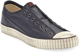 John Varvatos Men's Bootleg Laceless Low-Top Sneakers