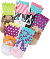 Pink Cookie 6-pk. Critter Socks - Girls 6-11