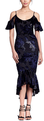 Marchesa Cold Shoulder Gown