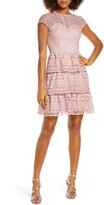 Chi Chi London Sloanie Embroidered Mesh Party Dress