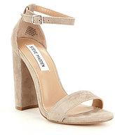 Steve Madden Carrson Suede Two Piece Block Heel Dress Sandals