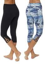 Sweaty Betty Jive Crop Reversible Barre Leggings