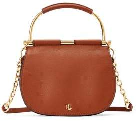 Lauren Ralph Lauren Mini Mason Round Leather Satchel