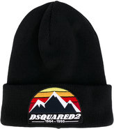 DSQUARED2 logo embroidered beanie hat - men - Wool - One Size