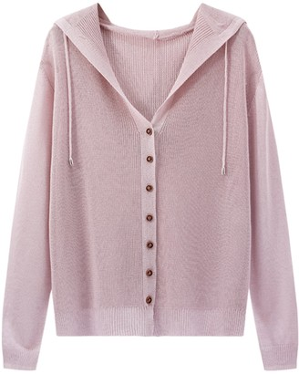 Goodnight Macaroon 'Emily' Lightweight Soft Hooded Cardigan (7 Colors)