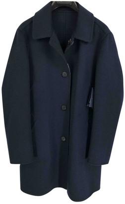 Aquascutum London Blue Wool Coat for Women