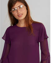 Express tiered sleeve blouse