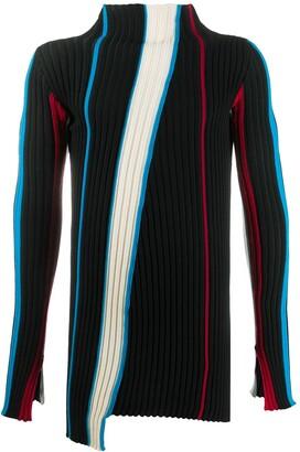 Ambush Mock Neck Ribbed Sweater