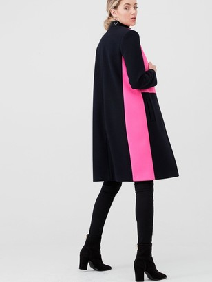 River Island Collarless Colourblock Coat