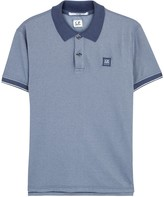 C.p. Company Indigo Piqué Cotton Polo Shirt
