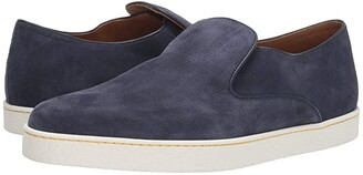 John Lobb Haven Suede Slip-On Sneaker (Navy) Men's Shoes