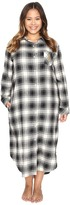 Lauren Ralph Lauren Plus Size Brushed Twill Long Sleepshirt