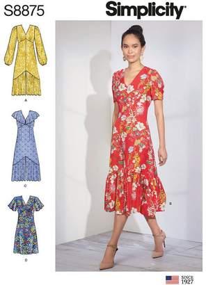 Simplicity Womens' Empire Waist Dress Sewing Pattern, 8875