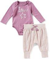 Jessica Simpson Baby Girls Newborn-9 Months Star Long-Sleeve Bodysuit & Striped Pants Set